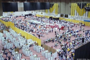 For one or two days, the Hearnes Center is converted into a blood collection factory, driven by thousands of students.