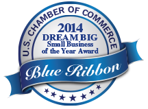 Delta Systems' US Chamber of Commerce 2014 Small Business of the Year Blue Ribbon Award