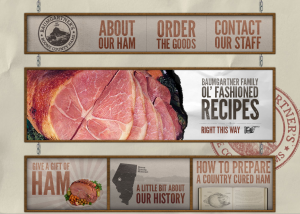 Baumgartner's Country Cured Ham Award Winning Website