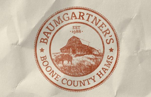 Baumgartner's Boone Count Ham Logo Design