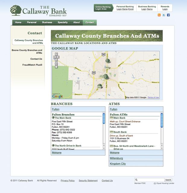 Callaway Bank Website