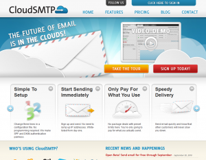 CloudSMTP's Award Winning Website