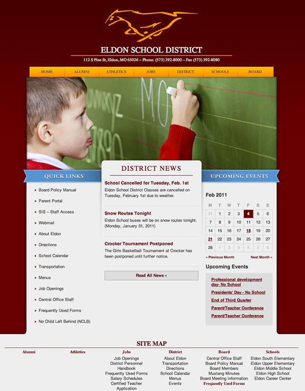 Eldon School District Website
