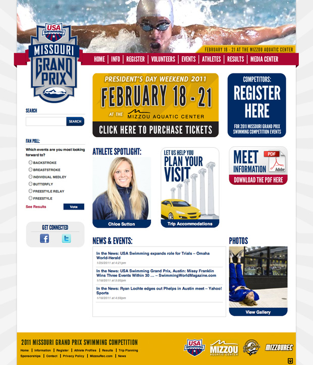 Missouri Grand Prix Website Design