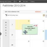 View the integrated schedule editor