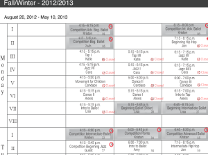 The old schedule