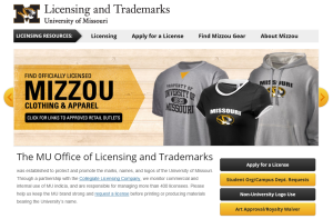 MU Licensing and Trademark Office's New Website