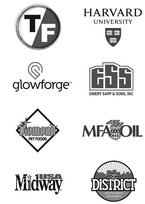 True/False Film Festival, Harvard University, Glowforge, Emmery Sapp & Sons, Diamond Pet Food, MFA Oil, Midway USA, The District