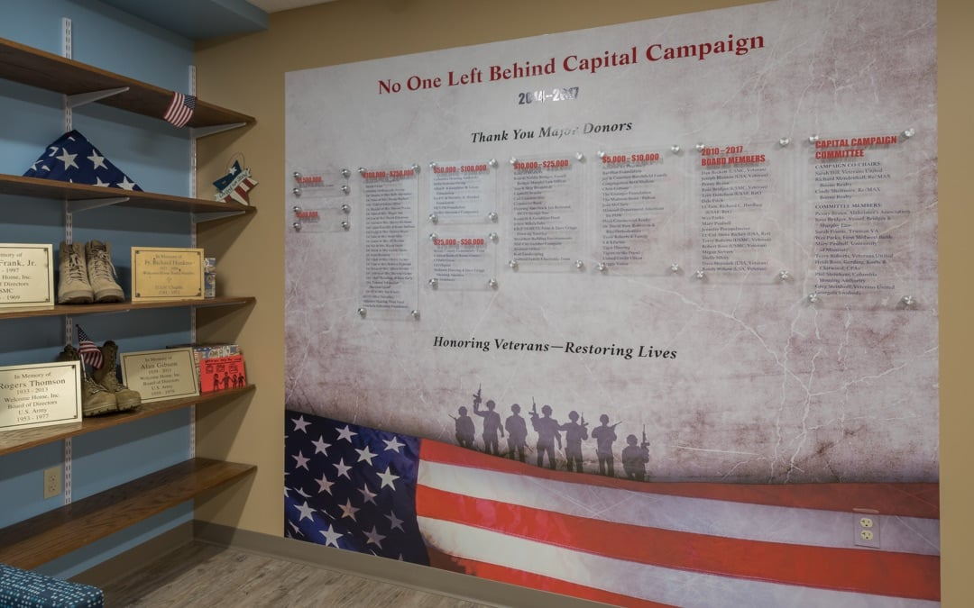 Welcome Home's donor wall