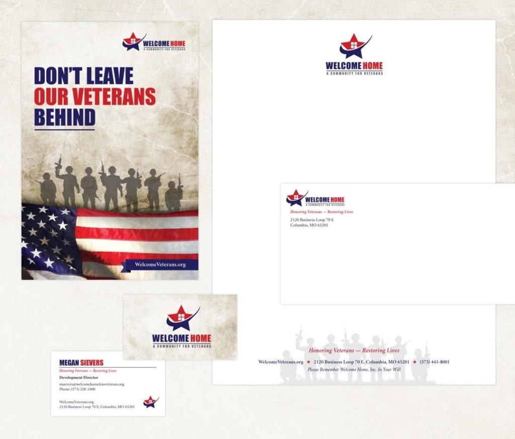 Welcome Home's marketing and stationary design