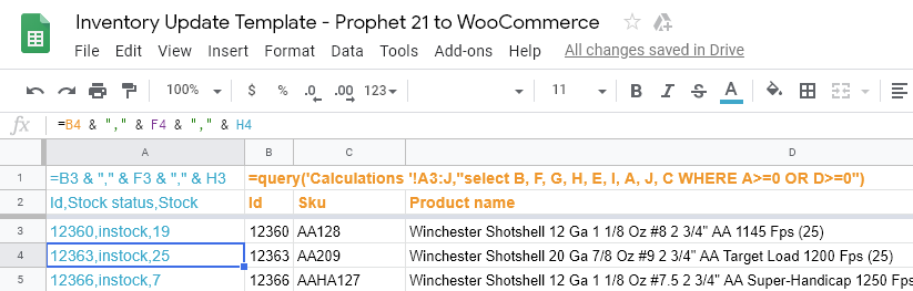 WooCommerce-Prophet-21-Inventory-match-synch-update-google-sheet-determine-if-stock-count-or-status-changed